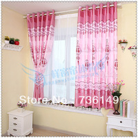 "Whole dodechedron 2 meters high pink curtain with Chinese ""lucky"" for window and door free shipment"