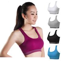 High elasticity Body Sculpting Seamless Women Jogging Sports Blockout Bra Vest Gymwear Fitness Crop-top Yoga Exercise Tank Tops