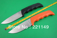 HOT SALE! Two Options! Kershaw Antelope Hunter Fixed Knives,8Cr13MOV Blade Rubber Handle Sanding Camping Hunting Knife.