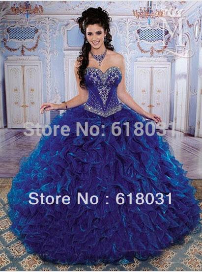 Vestidos de XV azul rey - Imagui