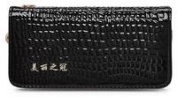 free shipping Trend 2014 women's zipper wallet long design japanned leather female wallet portable day clutch women wallets