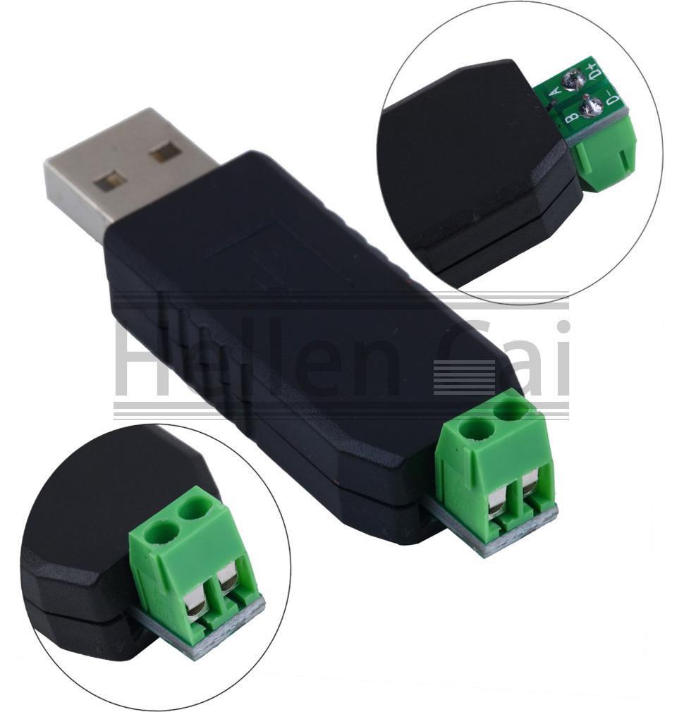 1 pcs USB to RS485 USB-485 Converter Adapter Support Win7 XP Vista Linux Mac OS(China (Mainland))