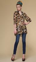 Silk chiffon shirt/100% silk fabric/skeleton pattern blouses for women/