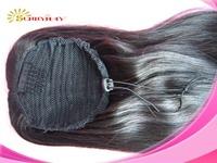 Stock Sunnymay Malaysia Virgin Human Hair #1b Natural Color Ponytail