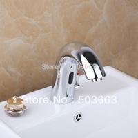 2014 Fashion Automati Sensor Deck Mounted Single Hole Polished Chrome Bathroom Basin Sink  MF-003 Mixer Tap Faucet