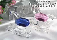 Crystal Toy rocking Horse Favor  Baby Shower favor baptism party gifts 12PCS/LOT baby gift present