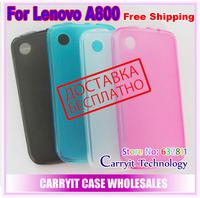 Lenovo A800 case, soft semitransparent matt case for Lenovo A800 case,  free screen protector, factory price, free shipping!