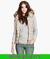 fur vest women Winter Lady's Hood vestido Women Wool Collar Zipper Button Pockets Removable Cap Warm Cotton Casual Vests