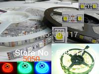 60m/lot $10 off per $100 DHL free shipping  smd5050 12V flexible 60LED/m 5m 300LED warm WHITE  14.4w  led strip non-waterproof