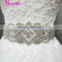Free shipping luxurious jeweled sashes Wedding Dress Sash Bridal Rhinestone Belt for wedding dress