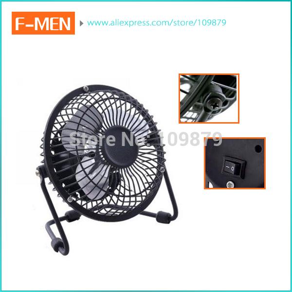 Plug and play USB Ventilator 360 Rotate Metal Mini Fan Portable Cooler Cooling Desktop Power PC Laptop Desk Fan(China (Mainland))