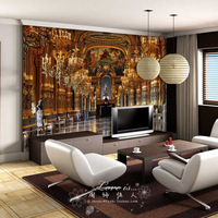 Luxury Embossed Mura Wallpaper 3d Palace Classic tv sofa background 3d Abstract Murals Photo Wall paper Fresco