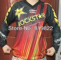 Racing Rally motocross Rockstar man T-shirt Race Suit motorcycle jersey moto clothing set Racing T shirts Cross country off-road