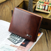 2014 new men's business clutch casual change purse male short wallet leather wallets Fashion card holder free shipping