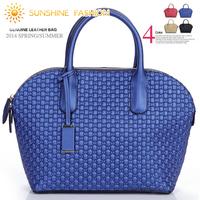 Famous Brand Designer Genuine Leather handbags 2014 Women Handbag Leather Bag shoulder messenger bags crocodile embossed tote