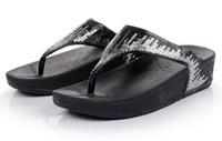 Free shipping women shoes 2014 flower slipper wedges summer sandals for women flats platform shoes beach flip flops women sandal