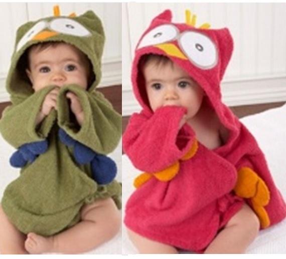 Salida De Baño Ninos Moldes:Búho baby toallas de baño de bata de baño de los niños recién