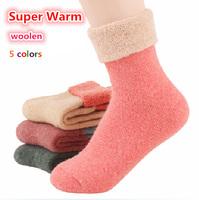 2014 casual meias Winter socks cashmere women's wool socks thermal thicken winter socks towel hemming warm socks 10pcs=5pairs