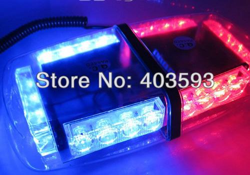 24W 24LED Car Roof Flashing Strobe Emergency Light New 24LED DC 12V 1WLED WHITE(China (Mainland))