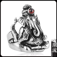 Sterling Silver boutique Men's God trunk Ring wholesale trunk Fortuna craft evil Lucky wholedale