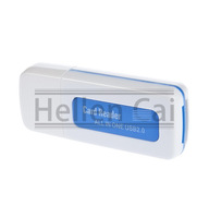 10 pcs Blue  Protable USB 2.0 4 in 1 Memory Multi Card Reader for SD TF T-Flash M2 Card