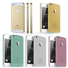 Moda Protector Film Vinil adesivo de pele decalque para o iPhone 5 5S Ouro(China (Mainland))