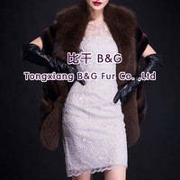 BG29659 Real Mink Fur Vest With Italy Fox Fur Vest For Lady Wholesale Retail Adjustable Fur Vest
