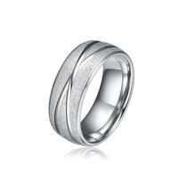 8MM Titanium Wedding Band Ring Mens Jewelry Matte Finish Ring Size 5-15&Half Sizes Free Shipping TI032RM