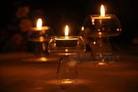 Free Shipping! 6PCS/Lot Hotsale Mushroom Romantic Candelabras Crystal Lantern Candlestick/ Home Decoration,Candle Holder