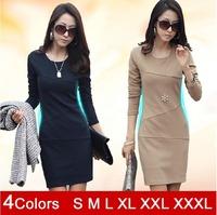 2014 New hot selling elegant lady dress cute brief office dress S M L XXL  XXXL cheap fashion lady Spring Autumn Winter dresses