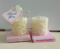 Factory directly sale 50pcs/ lot wedding favor sweet scented osmanthus candles,wedding party show candles,flowers candles
