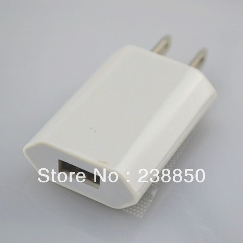 100pcs/lot Brandnew 1000ma EU usb charger for mobile phone Iphone 4 4s 5 5s FREE Shipping