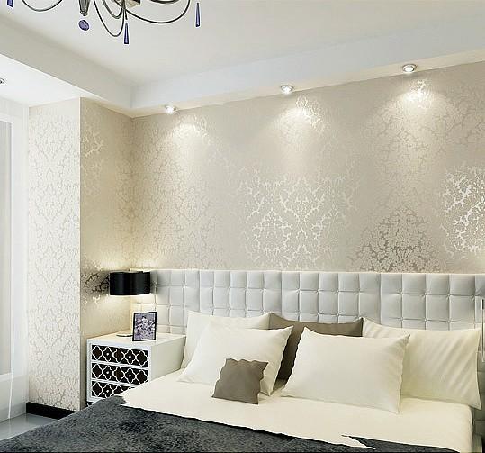 Non woven modern wallpaper glitter wallcovering metallic - Papel para paredes decorativo ...
