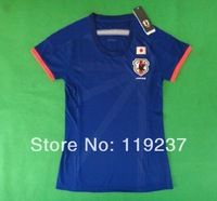 2014 world cup Japan home women soccer football jersey top thai quality woman soccer uniforms embroidery logo Free shipping
