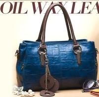 2014women's handbag first layer of cowhide women's bag leather bag vintage bag shoulder bag