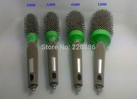 Free Shipping Professional Ceramic Brush Ionic Nano Technology Round Hair Brush With Needle Tail GIC-HB512 High Quality 4pcs/set