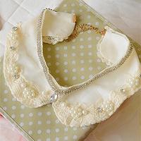Rhinestone false collar female lace pearl collar