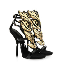 Hot Sale 2014 New Arrival Women Thin High Heel Shoes Sexy Party Dress Shoes Fashion Fretwork Sandals