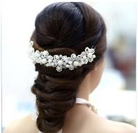 White beaded soft chain the bride hair accessory wedding accessories the bride accessories the wedding hair accessory the