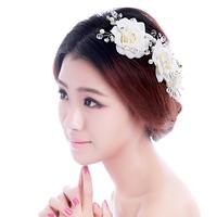 Rainbow rhinestone bridal hairpin rose pearl handmade hair stick pearl the wedding hair accessory hair accessory