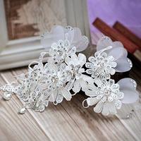Rainbow lace flower the bride married hair accessory hairpin rhinestone handmade hair accessory hair accessory