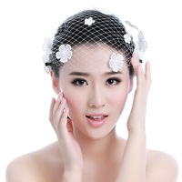 Flowery colour handmade lace bride hair accessory veil pearl the wedding hair accessory wedding dress hair accessory hairpin