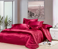 silk satin bed set bedding set bedspreads textile bedclothes bed sheet comforter sets duvet cover twin full queen king size 09