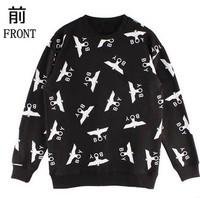 HP-05 Harajuku women and men Boy london sweatshirts Eagle letter print Autumn and winter Long sleeve sweatshirt Punk Hip hop
