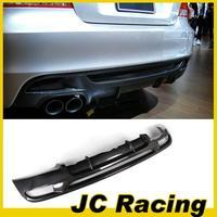 Superior Quality 1-Series E82 M T ech Carbon Fiber Rear Bumper Lip Diffuser With Dual Exhaust  Fits: E82 135i M tech Bumper