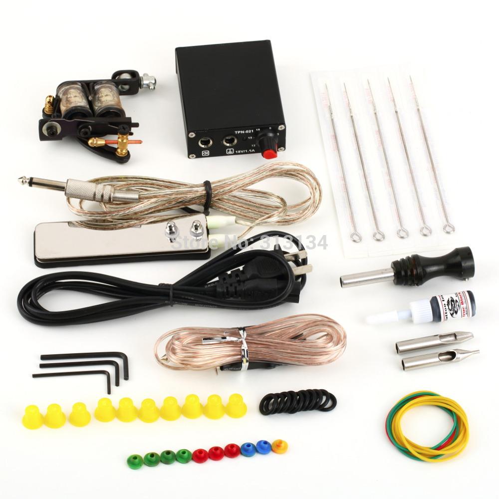 1 set Equipment Machine Power Supply Gun Color InksComplete Tattoo Kit Set(China (Mainland))