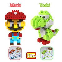 Super Mario & Yoshi Set LOZ Diamond Nano Mini Building Blocks Enlighten Bricks Building Block Bricks DIY Assembling Classic Toys