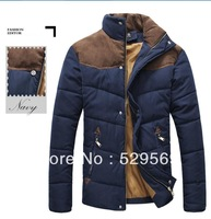 Free Shipping!New Hot Fashion Winter Slim Sexy Men's Cotton-padded Jacket Coat  High Quality Thicken Padded Jacket