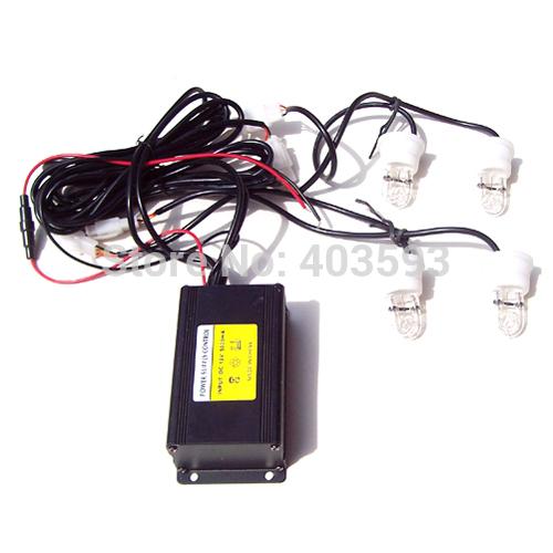 "2Red 2Blue 4 Xenon Strobe light, DC12V, 120W, ""U"" type xenon strobe bulbs, Strobe Hide away fog light(China (Mainland))"