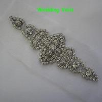 2014 new Diamond wedding veils sash beading pearls Crystal applique bride 15*5.5